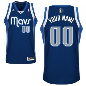Dallas Mavericks Swingman Personnalisé Alternate Maillot d'équipe de NBA - Bleu marin pour Homme