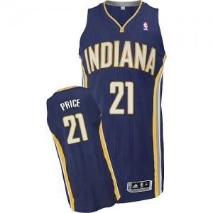 Indiana Pacers #21 Adidas Road Bleu marin Authentic Maillot d'équipe de NBA vente en ligne - A.J. Price pour Homme