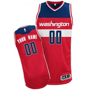 Maillot Adidas Rouge Road Washington Wizards - Authentic Personnalisé - Homme