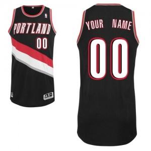 Maillot NBA Authentic Personnalisé Portland Trail Blazers Road Noir - Homme