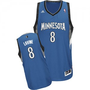Minnesota Timberwolves Zach LaVine #8 Road Swingman Maillot d'équipe de NBA - Slate Blue pour Homme