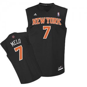Maillot Adidas Noir Melo Fashion Swingman New York Knicks - Carmelo Anthony #7 - Homme