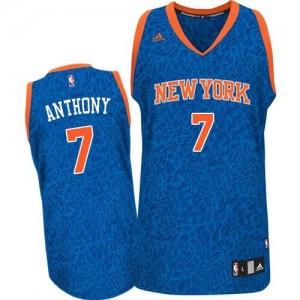 Maillot NBA Bleu Carmelo Anthony #7 New York Knicks Crazy Light Authentic Homme Adidas