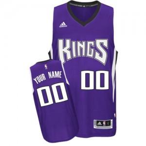 Sacramento Kings Personnalisé Adidas Road Violet Maillot d'équipe de NBA boutique en ligne - Swingman pour Enfants