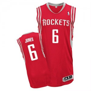 Houston Rockets Terrence Jones #6 Road Authentic Maillot d'équipe de NBA - Rouge pour Homme