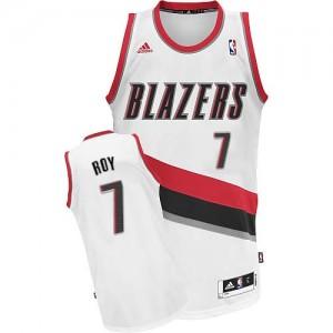 Portland Trail Blazers #7 Adidas Home Blanc Swingman Maillot d'équipe de NBA Le meilleur cadeau - Brandon Roy pour Homme