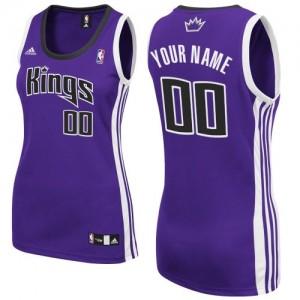 Sacramento Kings Personnalisé Adidas Road Violet Maillot d'équipe de NBA pour pas cher - Swingman pour Femme