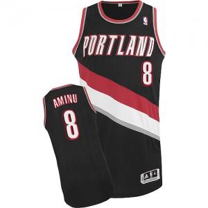 Maillot Adidas Noir Road Authentic Portland Trail Blazers - Al-Farouq Aminu #8 - Homme