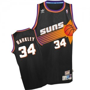 Maillot Authentic Phoenix Suns NBA Throwback Noir - #34 Charles Barkley - Homme