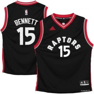Toronto Raptors #15 Adidas Noir Authentic Maillot d'équipe de NBA en vente en ligne - Anthony Bennett pour Homme