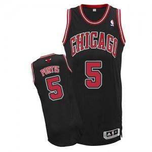 Maillot Authentic Chicago Bulls NBA Alternate Noir - #5 Bobby Portis - Homme
