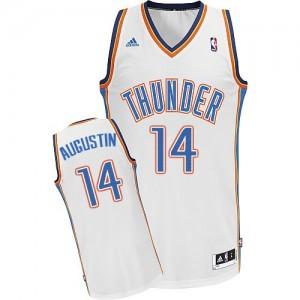 Oklahoma City Thunder D.J. Augustin #14 Home Swingman Maillot d'équipe de NBA - Blanc pour Homme