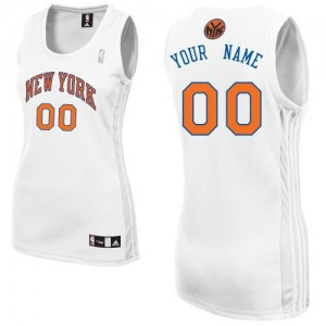 Maillot New York Knicks NBA Home Blanc - Personnalisé Authentic - Femme