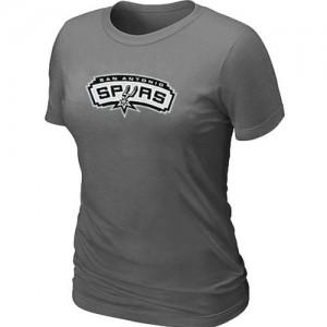 San Antonio Spurs Big & Tall Gris foncé Tee-Shirt d'équipe de NBA Vente - pour Femme