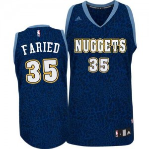 Maillot Adidas Bleu marin Crazy Light Authentic Denver Nuggets - Kenneth Faried #35 - Homme