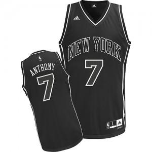 New York Knicks #7 Adidas Shadow Noir Swingman Maillot d'équipe de NBA Soldes discount - Carmelo Anthony pour Homme