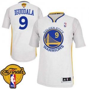 Golden State Warriors Andre Iguodala #9 Alternate 2015 The Finals Patch Authentic Maillot d'équipe de NBA - Blanc pour Homme