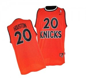 Maillot NBA Authentic Allan Houston #20 New York Knicks Throwback Orange - Homme