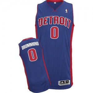 Maillot NBA Authentic Andre Drummond #0 Detroit Pistons Road Bleu royal - Homme