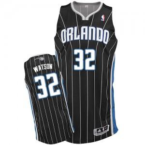 Maillot NBA Orlando Magic #32 C.J. Watson Noir Adidas Authentic Alternate - Homme