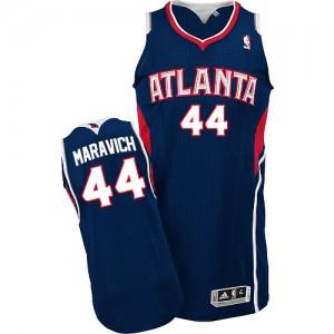 Maillot NBA Bleu marin Pete Maravich #44 Atlanta Hawks Road Authentic Homme Adidas