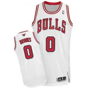 Maillot Authentic Chicago Bulls NBA Home Blanc - #0 Aaron Brooks - Homme