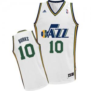 Maillot NBA Swingman Alec Burks #10 Utah Jazz Home Blanc - Homme