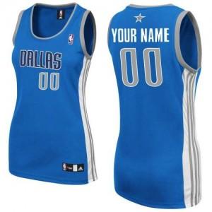 Dallas Mavericks Personnalisé Adidas Road Bleu royal Maillot d'équipe de NBA pas cher - Authentic pour Femme
