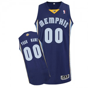Maillot NBA Bleu marin Authentic Personnalisé Memphis Grizzlies Road Enfants Adidas
