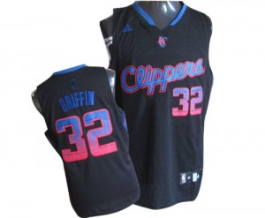 Maillot Adidas Noir Vibe Authentic Los Angeles Clippers - Blake Griffin #32 - Homme