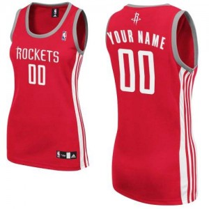 Maillot NBA Rouge Authentic Personnalisé Houston Rockets Road Femme Adidas