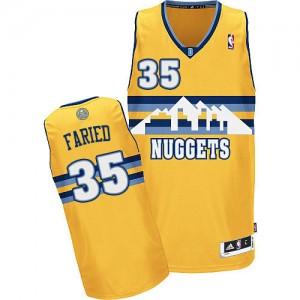 Denver Nuggets Kenneth Faried #35 Alternate Authentic Maillot d'équipe de NBA - Or pour Homme