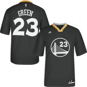 Maillot Adidas Noir Alternate Authentic Golden State Warriors - Draymond Green #23 - Homme