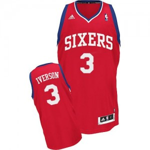 Maillot NBA Swingman Allen Iverson #3 Philadelphia 76ers Road Rouge - Homme