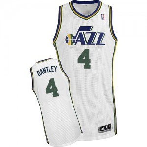 Maillot Authentic Utah Jazz NBA Home Blanc - #4 Adrian Dantley - Homme