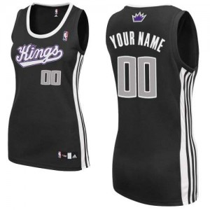 Maillot NBA Authentic Personnalisé Sacramento Kings Alternate Noir - Femme