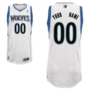 Maillot NBA Blanc Authentic Personnalisé Minnesota Timberwolves Home Enfants Adidas