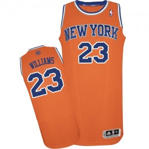 Maillot Authentic New York Knicks NBA Alternate Orange - #23 Derrick Williams - Homme