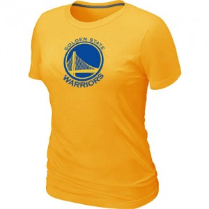 T-shirt principal de logo Golden State Warriors NBA Big & Tall Jaune - Femme