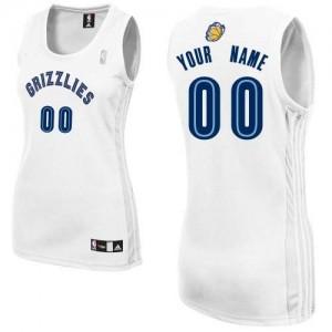 Memphis Grizzlies Authentic Personnalisé Home Maillot d'équipe de NBA - Blanc pour Femme