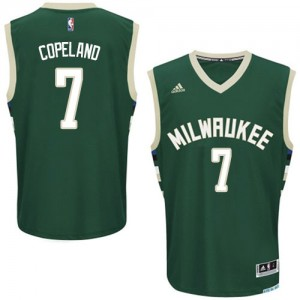 Maillot NBA Vert Chris Copeland #7 Milwaukee Bucks Road Swingman Homme Adidas