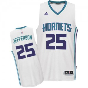 Charlotte Hornets #25 Adidas Home Blanc Authentic Maillot d'équipe de NBA magasin d'usine - Al Jefferson pour Homme