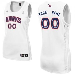 Atlanta Hawks Personnalisé Adidas Home Blanc Maillot d'équipe de NBA 100% authentique - Swingman pour Femme