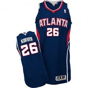Maillot NBA Bleu marin Kyle Korver #26 Atlanta Hawks Road Authentic Homme Adidas