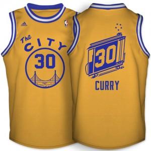 Golden State Warriors #30 Adidas Throwback The City Or Swingman Maillot d'équipe de NBA pas cher - Stephen Curry pour Homme