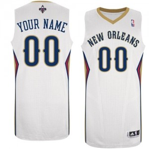 Maillot NBA New Orleans Pelicans Personnalisé Authentic Blanc Adidas Home - Femme