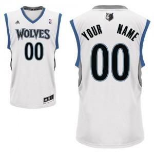Maillot Minnesota Timberwolves NBA Home Blanc - Personnalisé Swingman - Enfants