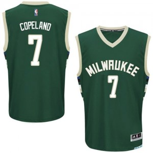 Maillot NBA Vert Chris Copeland #7 Milwaukee Bucks Road Authentic Homme Adidas