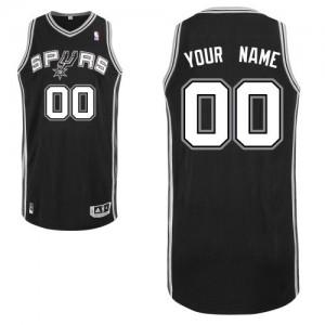 San Antonio Spurs Authentic Personnalisé Road Maillot d'équipe de NBA - Noir pour Homme
