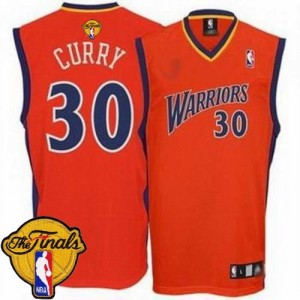 Maillot Authentic Golden State Warriors NBA Throwback 2015 The Finals Patch Rouge - #30 Stephen Curry - Homme